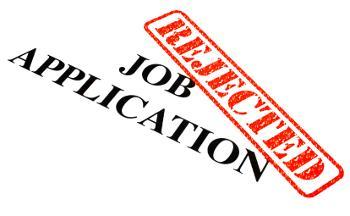 rejected job application