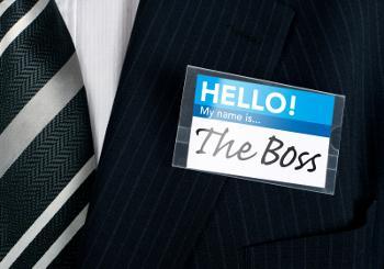 the boss nametag