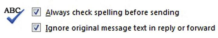 Use automatic spell check to catch mistakes