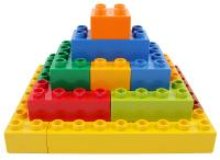 plastic building block pyramid