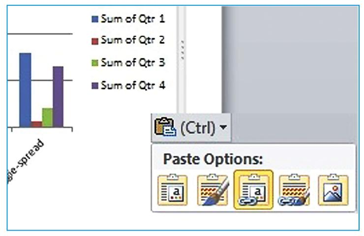 Powerpoint integrating charts and tables from excel business excel ranges this option is the safest when you want to ensure that no changes are made to the data once you paste it it will use source formatting ccuart Image collections