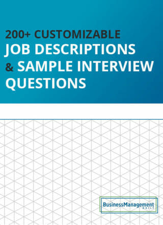 200+ Customizable Job Descriptions & Sample Interview Questions