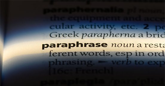 Leadership communication: Praise for the paraphrase
