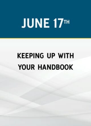Keeping Up With Your Handbook