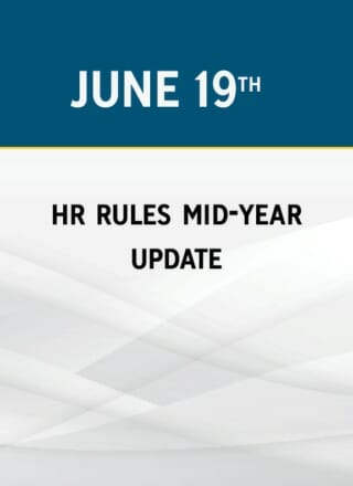 HR Rules Mid-Year Update