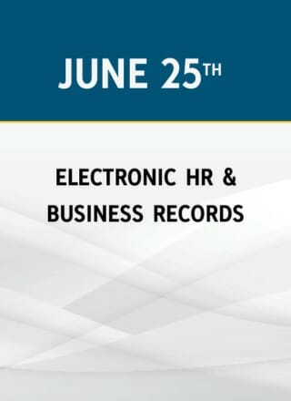 Electronic HR & Business Records