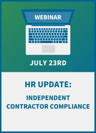HR Update: Independent Contractor Compliance