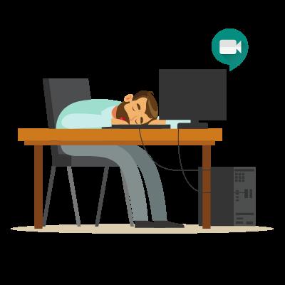 COVID fatigue 556x400 person asleep at desk